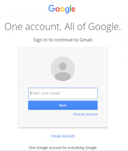 Gmail Login page